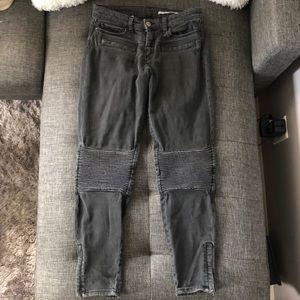 Zara Moto skinny gray jeans Ankle length Size 26